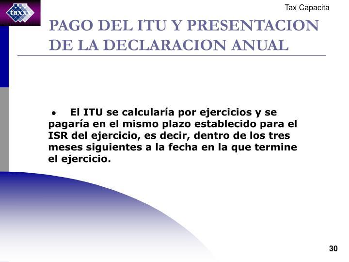 PAGO DEL ITU Y PRESENTACION DE LA DECLARACION ANUAL