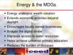 energy the mdgs