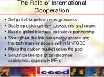 the role of international cooperation