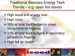 traditional biomass energy tech trends e g open fire stoves