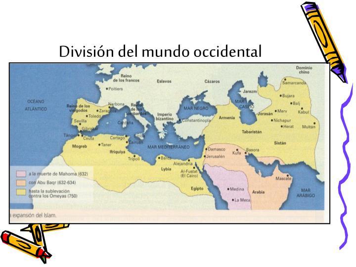 Divisi n del mundo occidental