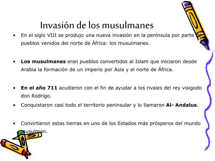 Invasión de los musulmanes