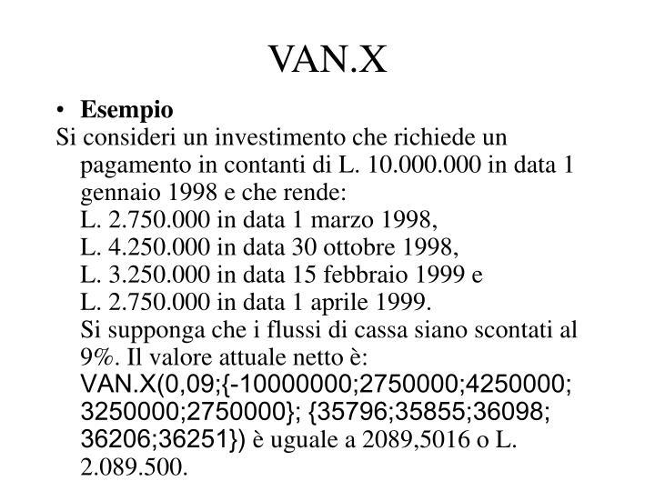 VAN.X