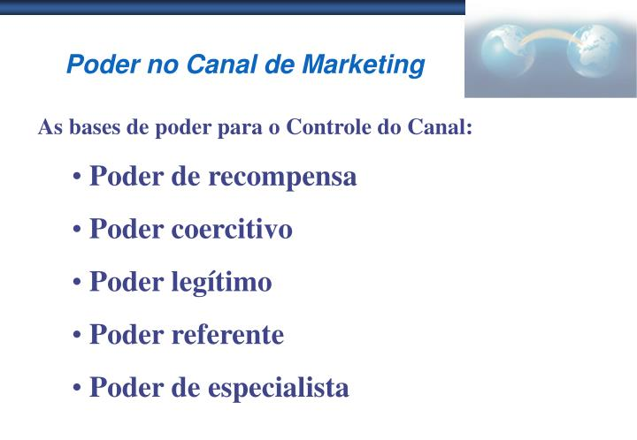 Poder no Canal de Marketing