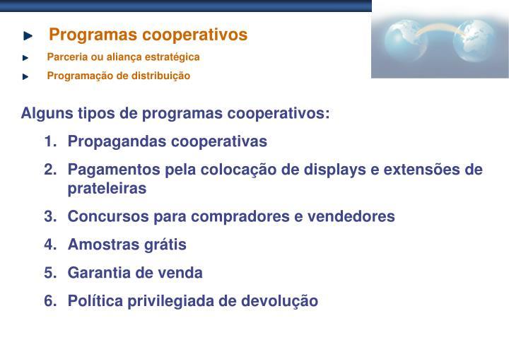 Programas cooperativos