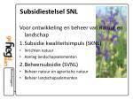subsidiestelsel snl