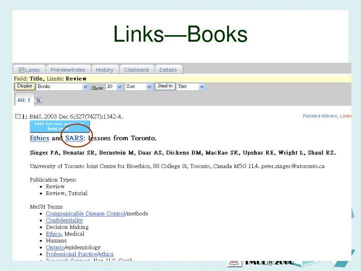 Links—Books