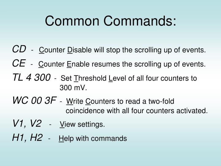 Common Commands: