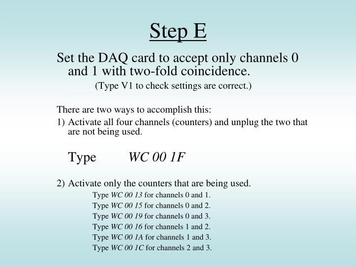 Step E