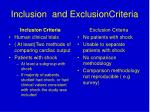 inclusion and exclusioncriteria