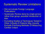 systematic review limitations