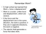 remember work