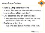 write back caches