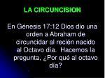 la circuncision