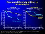 respuesta diferencial al litio y la carbamacepina