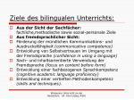 ziele des bilingualen unterrichts