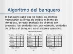 algoritmo del banquero