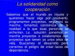 la solidaridad como cooperaci n