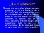 qu es solidaridad