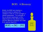 bod a bioassay