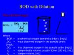 bod with dilution
