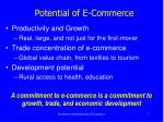potential of e commerce