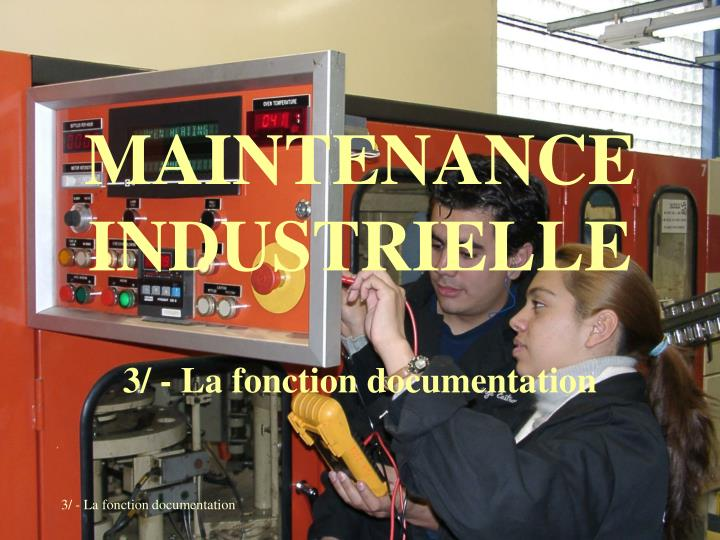 maintenance industrielle n.