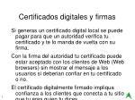 certificados digitales y firmas