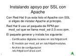instalando apoyo por ssl con apache