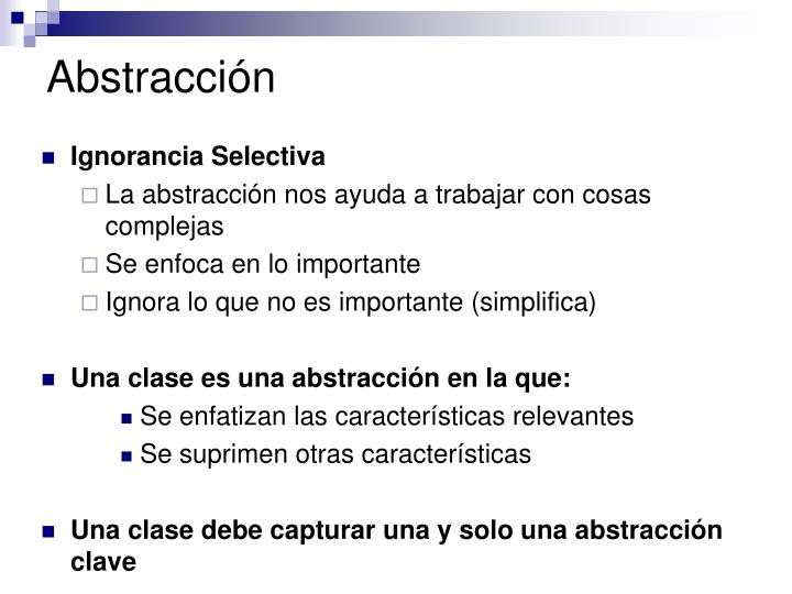 Abstracción
