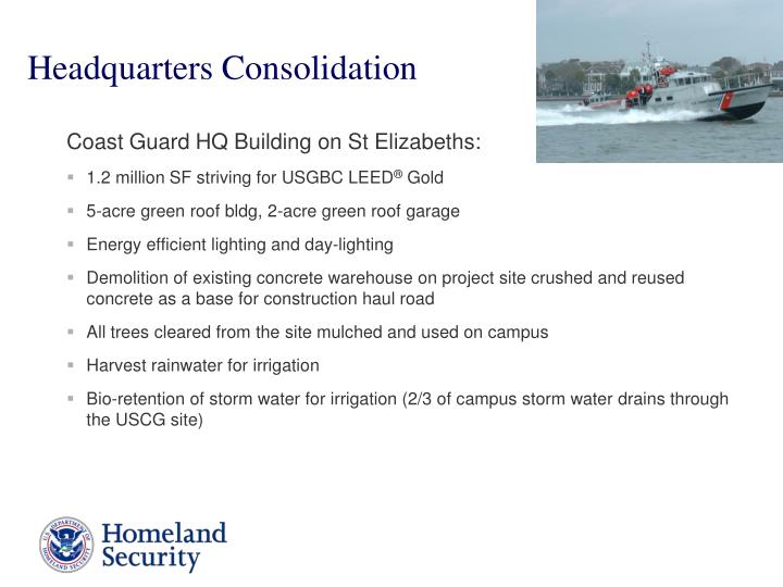 Headquarters Consolidation