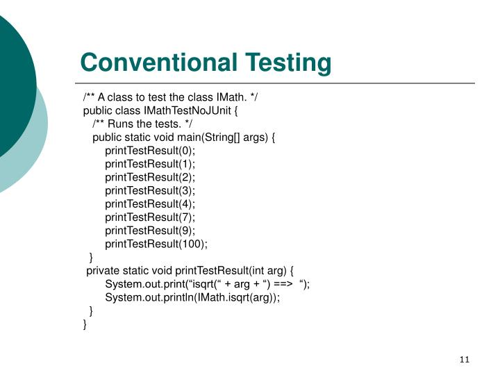 Conventional Testing