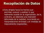 recopilaci n de datos