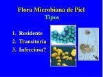 flora microbiana de piel tipos