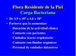 flora residente de la piel carga bacteriana