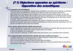 7 1 objections oppos es au spiritisme opposition des scientifiques