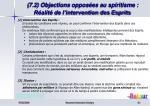 7 2 objections oppos es au spiritisme r alit de l intervention des esprits