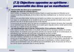 7 3 objections oppos es au spiritisme personnalit des tres qui se manifestent