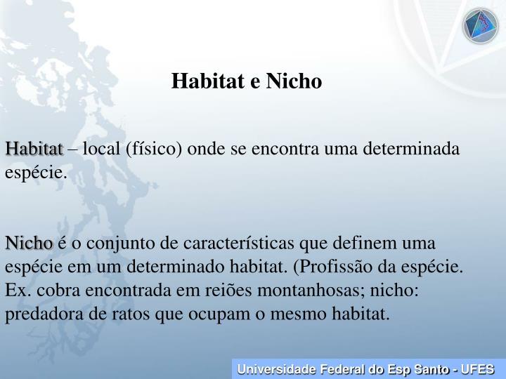 Habitat e Nicho