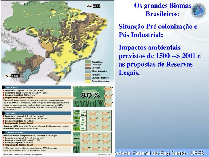 Os grandes Biomas Brasileiros: