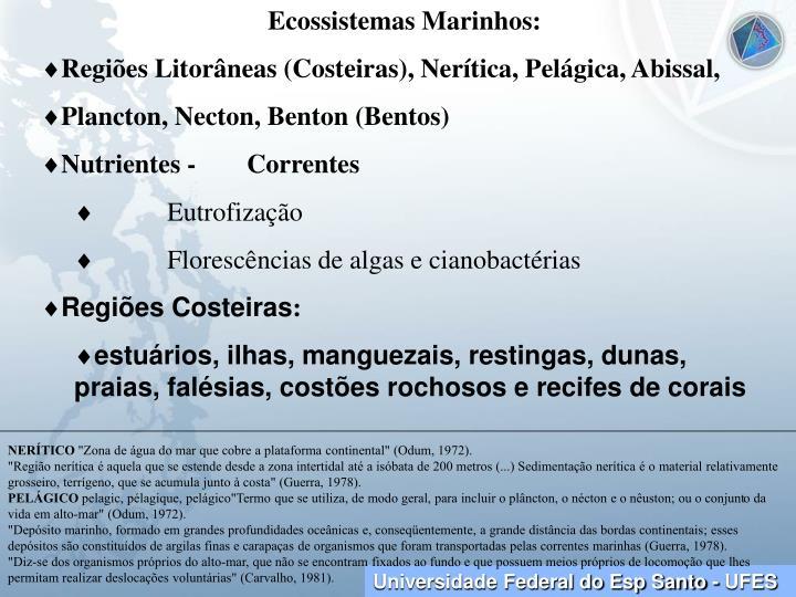Ecossistemas Marinhos: