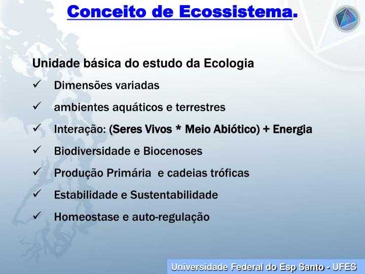 Conceito de Ecossistema