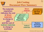 job costing document flow summary