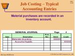job costing typical accounting entries1