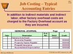 job costing typical accounting entries4