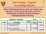 job costing typical accounting entries7