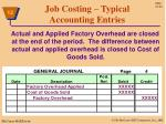 job costing typical accounting entries8