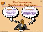 the contemporary manufacturing environment1