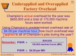 underapplied and overapplied factory overhead1