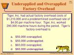 underapplied and overapplied factory overhead7